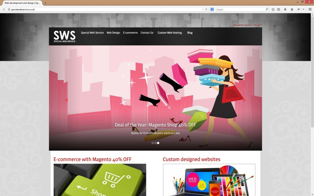 Desktop size Website